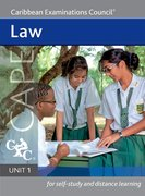Cover for Law Cape Unit 1 A Caribbean Examinations Council Study Guide