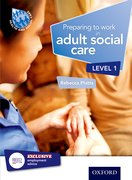 Cover for Preparing to Work in Adult Social Care Level 1