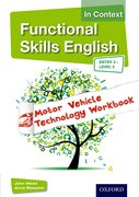 Cover for Functional Skills English In Context Motor Vehicle Technology Workbook Entry 3 -Level 2