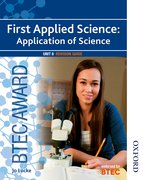 Cover for BTEC Award First Applied Science: Application of Science Unit 8 Revision Guide
