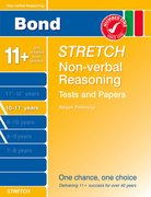 Cover for Bond Stretch Non-Verbal Reasoning Tests and Paapers Papers 10-11+ years