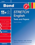Cover for Bond Stretch English Tests and Papers 8-9 years