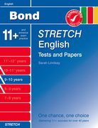 Cover for Bond Stretch English Tests and Papers 9-10 years