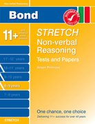 Cover for Bond Stretch Non-Verbal Reasoning Tests and Papers 8-9 years