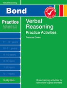Cover for Bond Practice Verbal Reasoning Practice Activities 5-6 years