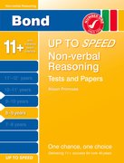 Cover for Bond Up to Speed Non-verbal Reasoning Tests and Papers 8-9 years