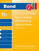 Cover for Bond Up to Speed Non-Verbal Reasoning Tests and Papers 10-11+ years