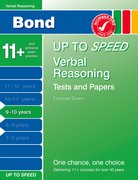 Cover for Bond Up to Speed Verbal Reasoning Tests and Papers 9-10 years