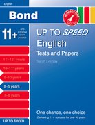 Cover for Bond Up to Speed English Tests and Papers 8-9 years