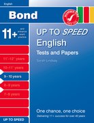 Cover for Bond Up to Speed English Tests and Papers 9-10 years