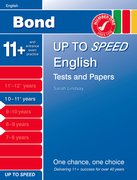 Cover for Bond Up to Speed English Tests and Papers 10-11+ years