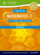 Cover for Essential Mathematics for Cambridge Secondary 1 Stage 7 Work Book