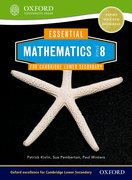 Cover for Essential Mathematics for Cambridge Secondary 1 Stage 8 Pupil Book