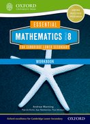 Cover for Essential Mathematics for Cambridge Secondary 1 Stage 8 Work Book