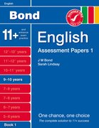 Cover for Bond Assessment Papers English 9-10 yrs Book 1