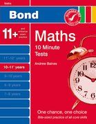 Cover for Bond 10 Minute Tests Maths 10 -11 Years