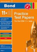 Cover for Bond CEM Style 11+ Practice Test Papers 1 - All Questions