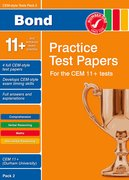 Cover for Bond CEM Style 11+ Practice Test Papers 2 - All questions