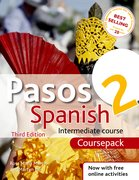 Cover for Pasos 2 Spanish Intermediate Course 3rd edition revised:Course Pack