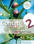 Cover for Contatti 2 Italian Intermediate Course 2nd edition revised: Coursebook and CDs