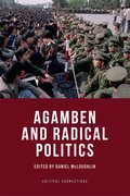 Cover for Agamben and Radical Politics