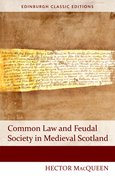 Cover for Common Law and Feudal Society in Medieval Scotland