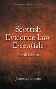 Cover for Scottish Evidence Law Essentials