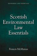 Cover for Scottish Environmental Law Essentials