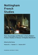 Cover for Text, Knowledge and Wonder in Early Modern France: Studies in Honour of Stephen Bamforth