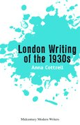 Cover for London Writing of the 1930s