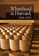 Cover for Whitehead at Harvard, 1924-1925