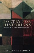 Cover for Poetry for historians