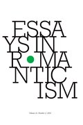 Cover for Essays in Romanticism, Volume 21.2 2014