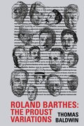 Cover for Roland Barthes: The Proust Variations