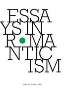 Cover for Essays in Romanticism, Volume 27.1 2020