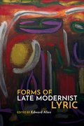 Cover for Forms of Late Modernist Lyric