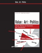 Cover for Value, Art, Politics