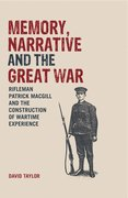 Cover for Memory, Narrative and the Great War