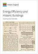 Cover for Energy Efficiency and Historic Buildings