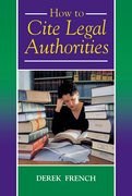 Cover for How to Cite Legal Authorities