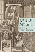 Cover for Scholarly Milton