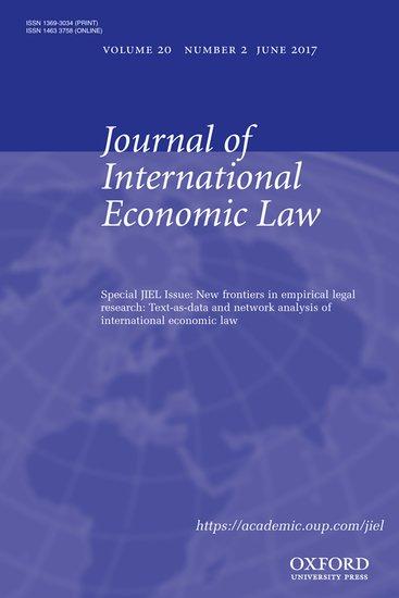 Journal of International Economic Law - Joost  Pauwelyn