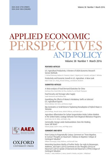 Applied Economic Perspectives And Policy Craig Gundersen