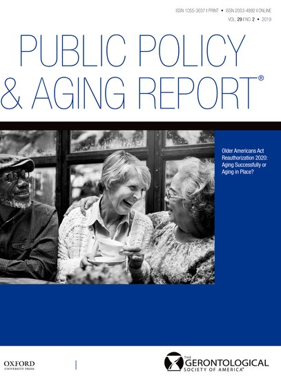 Public Policy Aging Report Brian Kaskie Oxford University Press