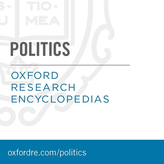 Oxford Research Encyclopedias Politics William R Thompson