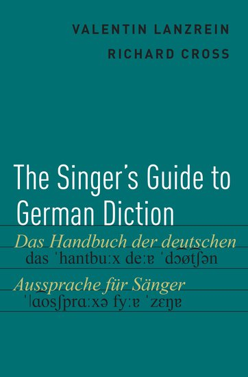 The Singers Guide To German Diction Paperback Valentin Lanzrein