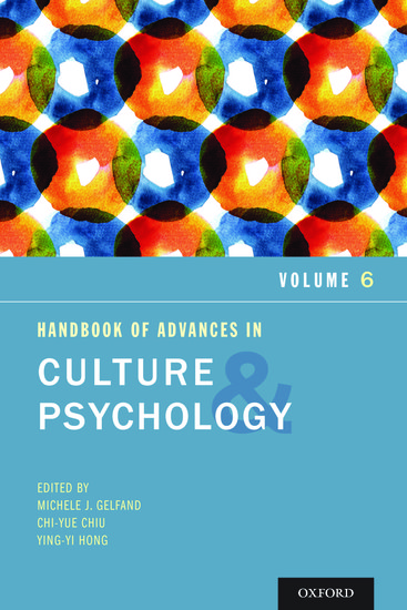 The Oxford Handbook of Culture and Psychology