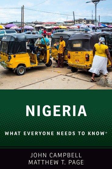 Nigeria Paperback John Campbell Matthew T Page Oxford