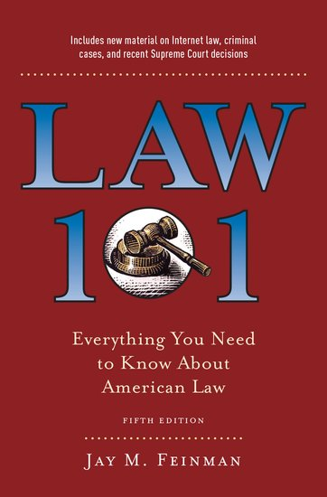 Law 101 Jay M Feinman Oxford University Press