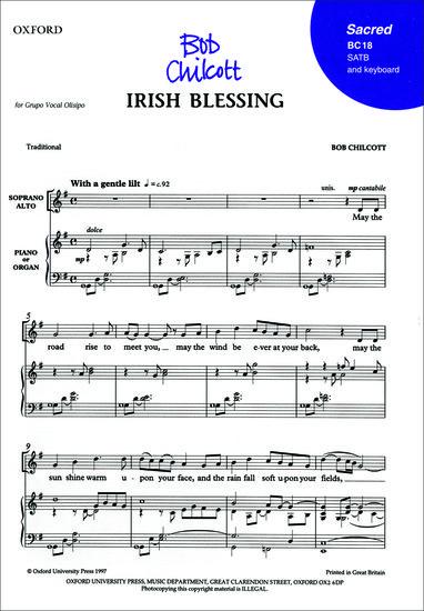 irish blessing may the road rise to meet you bob chilcott jazz